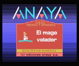 El Mago Volador 1 - Identificación de Números (1986, MSX, Anaya Multimedia)