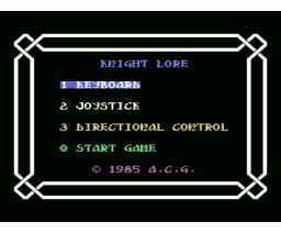 Knight Lore (1986, MSX, A.C.G.)