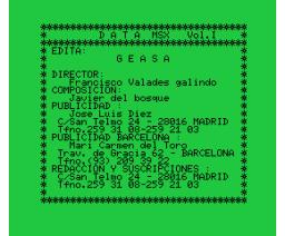 Data MSX Vol. I (MSX, GEASA)