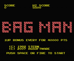 Bag Man (2007, MSX, AG Software)
