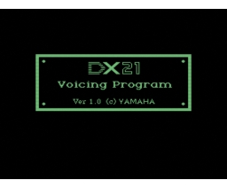 DX21 Voicing Program (MSX, YAMAHA)