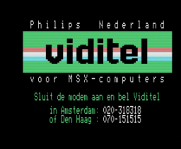 MT-Viditel (1984, MSX, Micro Technology)