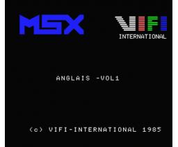 Anglais - Volume 1 Système Verbal (1985, MSX, Vifi International)