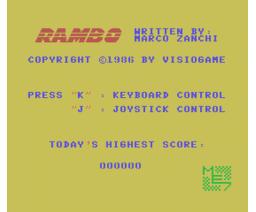 Rambo (1986, MSX, Visiogame)