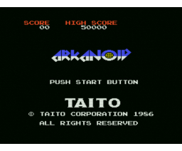 Arkanoid (1986, MSX, TAITO, Imagine)