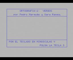 Ortografia-2: verbos (MSX, Mind Games España)