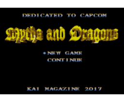 Myths and Dragons (2017, MSX2, Turbo-R, Kai Magazine)