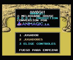 Aaargh! (1989, MSX, Melbourne House)