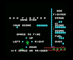 Zero Fighter (1984, MSX, Hudson Soft / Japanese Softbank)