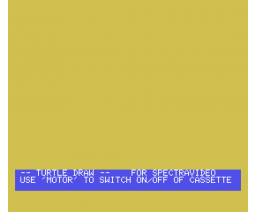 Turtle Draw (1985, MSX, James Ralph)