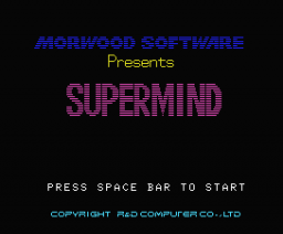 Supermind (1984, MSX, Morwood Software)