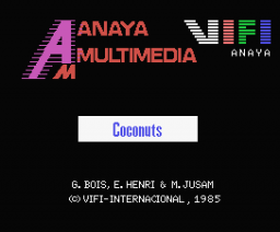 Coconuts (1985, MSX, Anaya Multimedia, Vifi International)