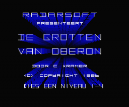 De Grotten van Oberon (1986, MSX2, Radarsoft)