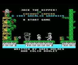 Jack the Nipper In Coconut Capers (1987, MSX, Gremlin Graphics)