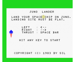 Juno Lander (1984, MSX, Bernd Jöllenbeck GMBH)