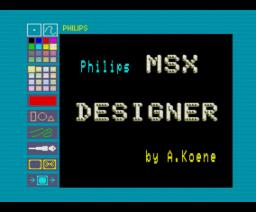 MSX Designer (1986, MSX2, A. Koene)