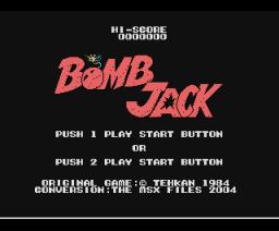 Bomb Jack (2004, MSX, Sega)
