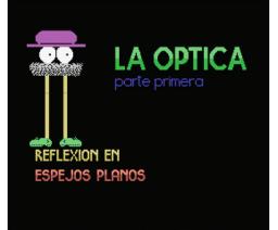Reflexión de la luz. Espejos planos (1986, MSX, Patagoras)