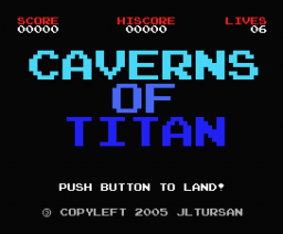 Caverns of Titan (2005, MSX, MSX2, JLTurSan)