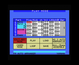 FM Auto Arranger (1985, MSX, YAMAHA)