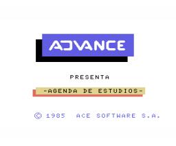 Agenda de estudios (1985, MSX, Ace Software S.A.)
