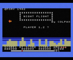 Night Flight (1982, MSX, Tomy Company, Ltd.)