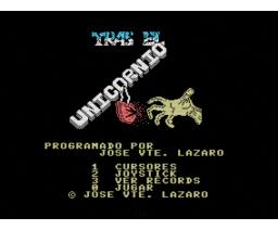 Tras el Unicornio  (1987, MSX, Azimut Soft)