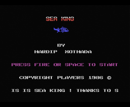 Sea King (1986, MSX, Players)