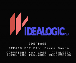 Ideabase (1986, MSX, Idealogic)