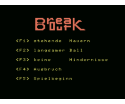 Break Out (1986, MSX, Volker Becker)