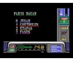 París-Dakar (1988, MSX, Made in Spain)
