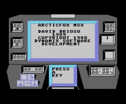 Arctic Fox (1989, MSX, Electronic Arts)