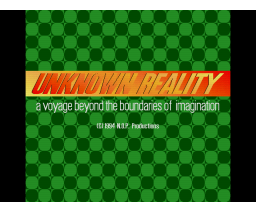 Unknown Reality (1994, MSX2, Maarten Loor)
