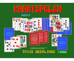 Kaartspelen de luxe (1990, MSX2, Thijs Geerlings)