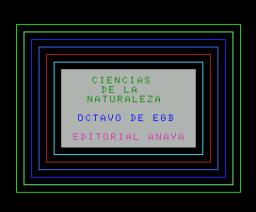 Ciencias de la Naturaleza 8º EGB (1985, MSX, Anaya Multimedia)