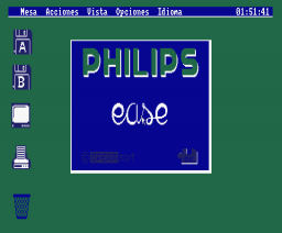 E.A.S.E. - Philips Desktop (1988, MSX2, Opera Soft)