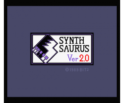 Synth Saurus Ver. 2.0 (1989, MSX2, Bit²)