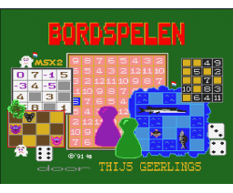 Bordspelen de luxe (1990, MSX2, Thijs Geerlings)