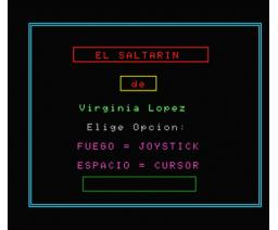 El Saltarín (1986, MSX, Grupo de Trabajo Software (G.T.S.))