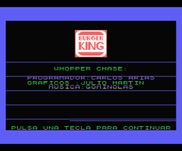 Whopper Chase (1987, MSX, Erbe Software)