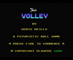 Foot Volley (1986, MSX, Players)