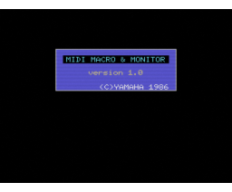 MIDI Macro & Monitor (1986, MSX, YAMAHA)