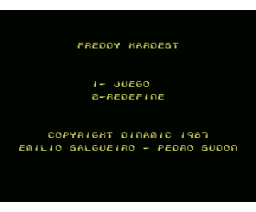 Freddy Hardest (1987, MSX, MSX2, Dinamic)