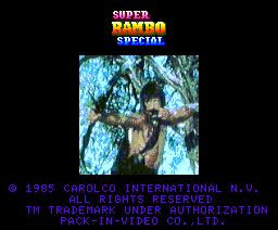 Super Rambo Special (1986, MSX2, Pack-In-Video)