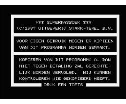 Super Kasboek (1987, MSX2, Stark-Texel)