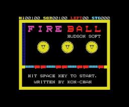 Akarui Nouen / Fireball (1983, MSX, Hudson Soft)