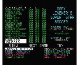 Gary Lineker's Super Star Soccer (1987, MSX, Gremlin Graphics)