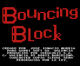 Bouncing Block (1988, MSX, Idealogic)