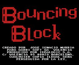 Bouncing Block (1988, MSX, Idealogic)