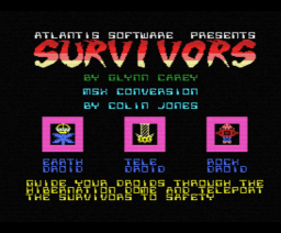 Survivors (1986, MSX, Atlantis Software (UK))